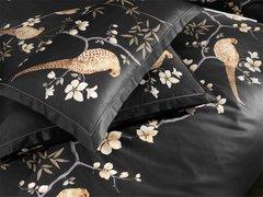 Постельное белье 1.5 спальное Elegante Fasan черное