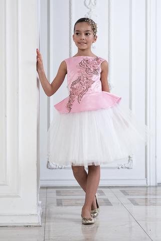 Пышное нарядное платье  (арт.322 роз)