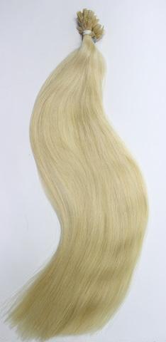 Волосы на плоских кератиновых капсулах,цвет 613( 2 КЛАСС)-50 СМ