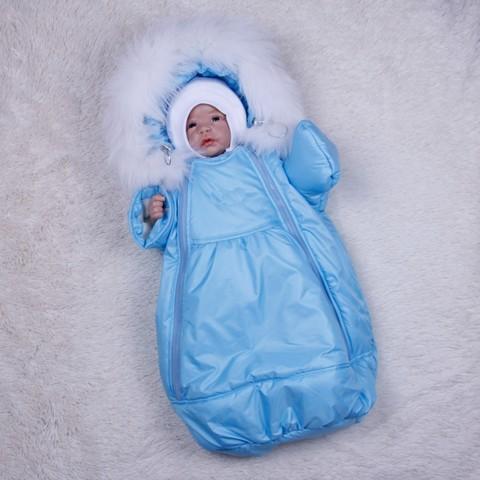 Зимний мешок - комбинезон Космонавт (голубой)