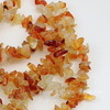 Бусина Агат Красный, крошка, 2-13 мм, нить 83-86 см