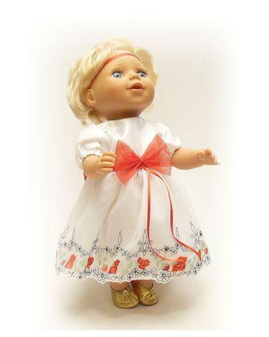 Платье праздничное - На кукле. Одежда для кукол, пупсов и мягких игрушек.