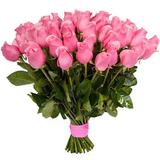 Букет из 51 розовой розы (Голландия)