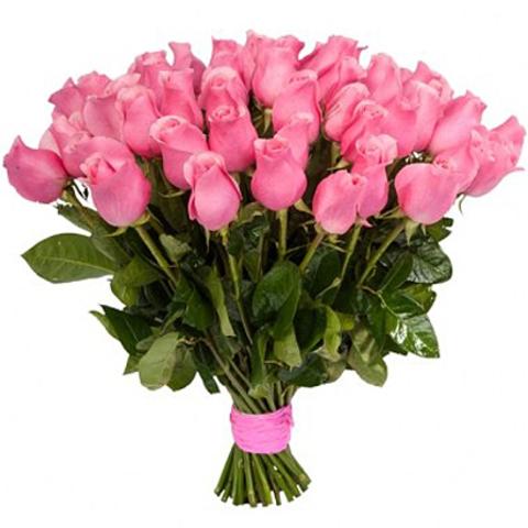 Букет из 51 розовой розы (80 см)
