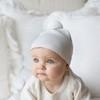 Детская шапочка из шерсти мериноса с помпоном