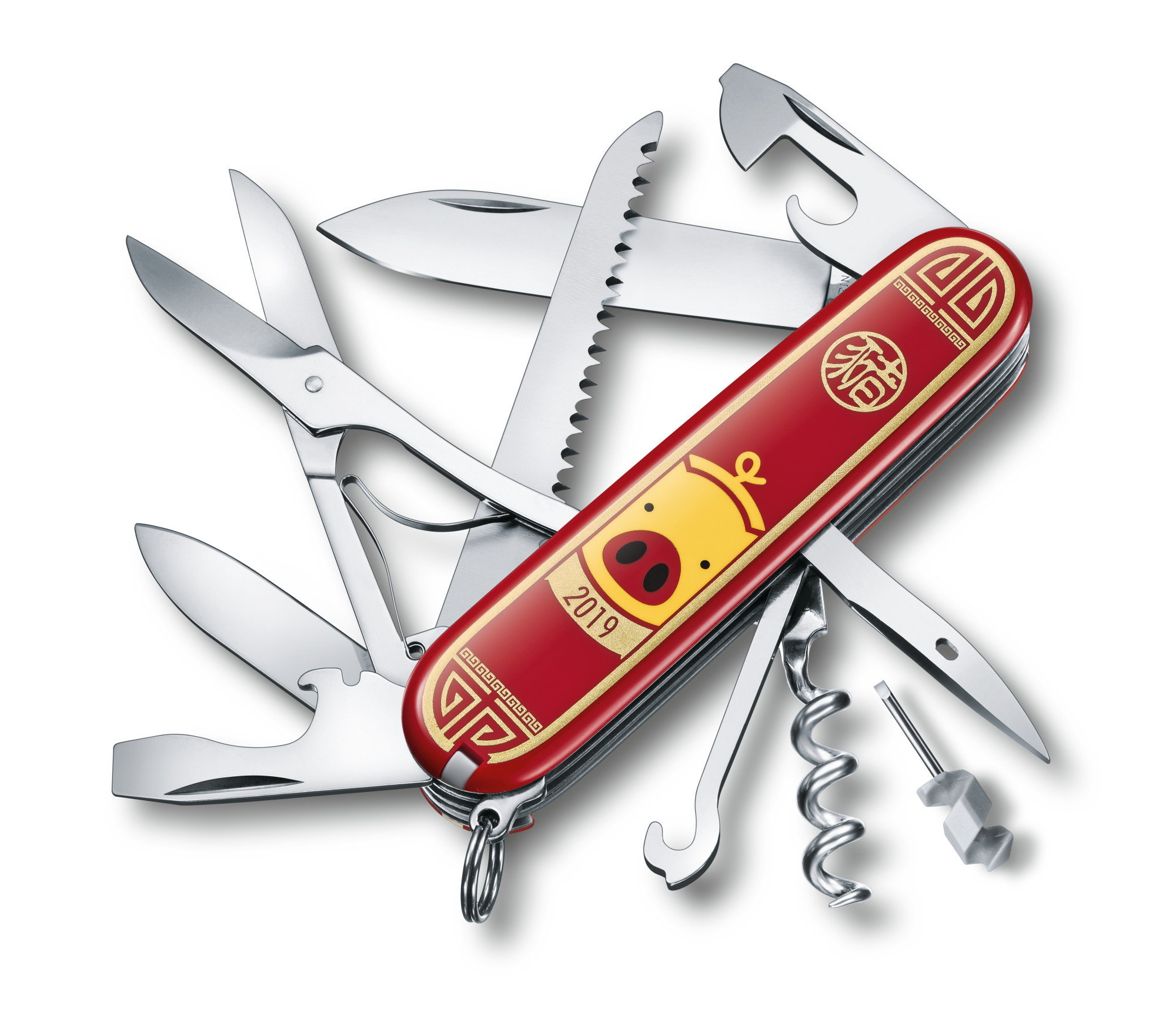 Складной нож Victorinox Huntsman Year of the Pig 2019 (1.3714.E8) limited edition - Wenger-Victorinox.Ru