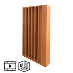 Акустический деревянный диффузор ECHOTON Schroeder 400 Hz to 8 kHz.