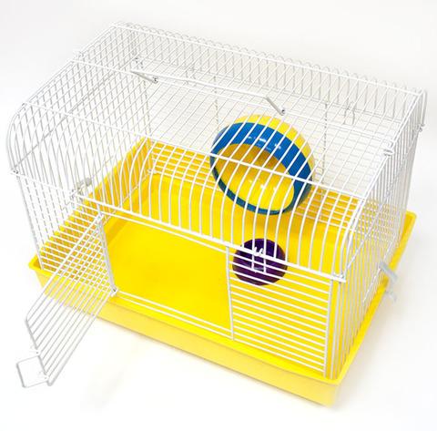 Зооник клетка  д/грызунов (колесо+миска) 32х22,5х23