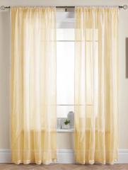 Длинные шторы. Тюль Basica-2 (микро вуаль золотой)