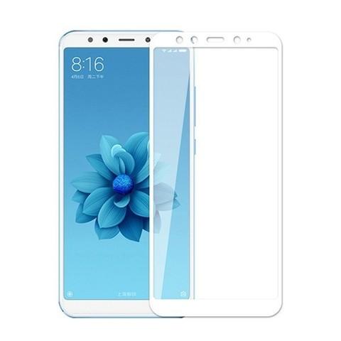 Стекло защитное 5d для Xiaomi  Mi 6X (белый)