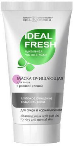 BelKosmex Ideal fresh Маска очищающая с розовой глиной для лица глубокое очищение гладкость кожи для сухой и нормальной кожи 80г
