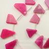 """Бусина Агат """"Крэкл"""" (тониров), цвет - розовый, нить"""