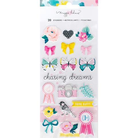 Объемные стикеры  Puffy Stickers - коллекция Chasing Dreams Maggie Holmes от Crate Paper шт.