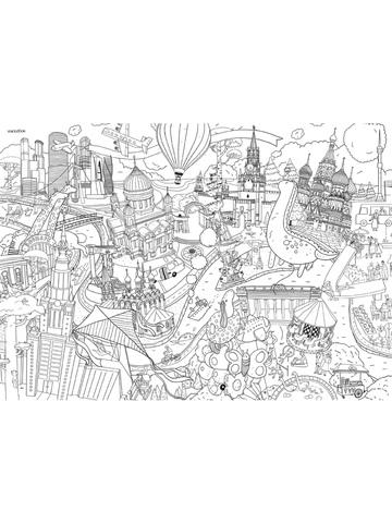 Москва. Гигантская раскраска-плакат