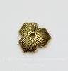 "Шапочка в виде цветка ""три лепестка"" (цвет - античное золото) 11х10х2,5 мм, 10 штук"