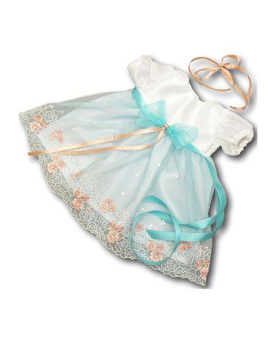 Платье праздничное - Белый / мята. Одежда для кукол, пупсов и мягких игрушек.