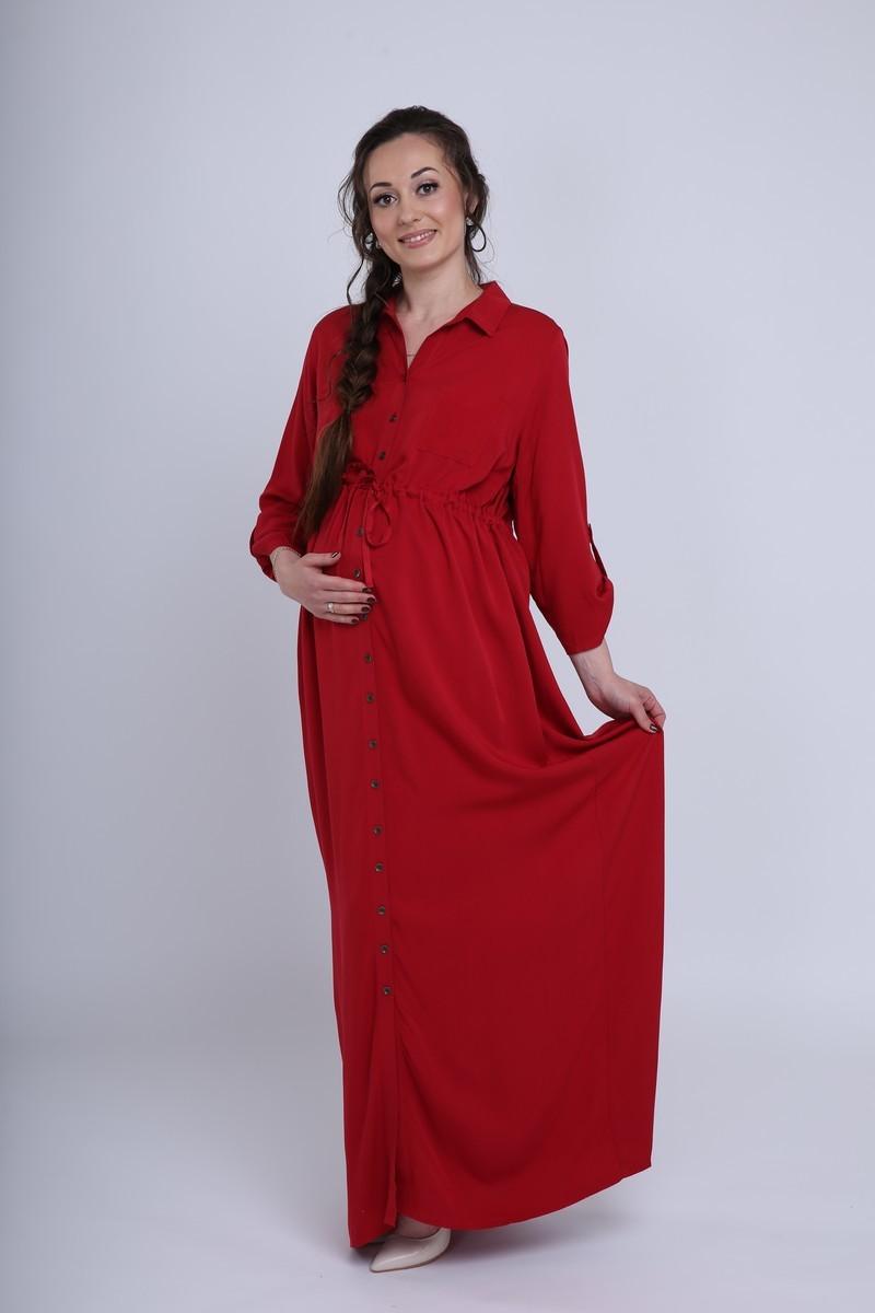 Платье 09450 красный