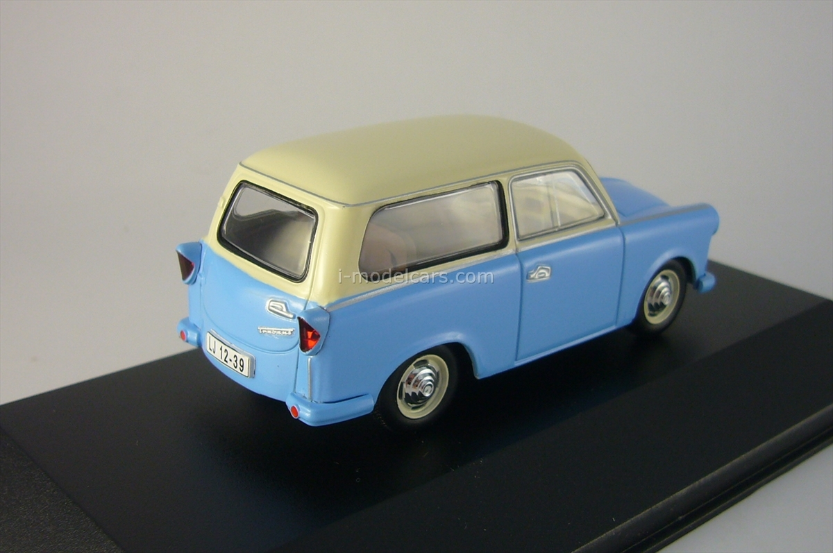 model cars trabant p50 kombi blue beige 1959 ist046 ist. Black Bedroom Furniture Sets. Home Design Ideas