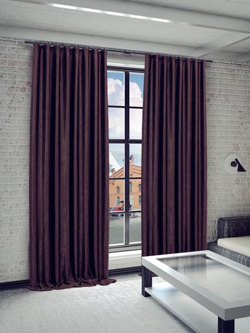 Готовые шторы Жульет коричневый