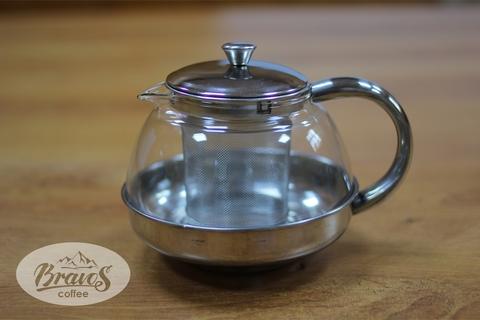 Чайник с ситом 600 мл. вид