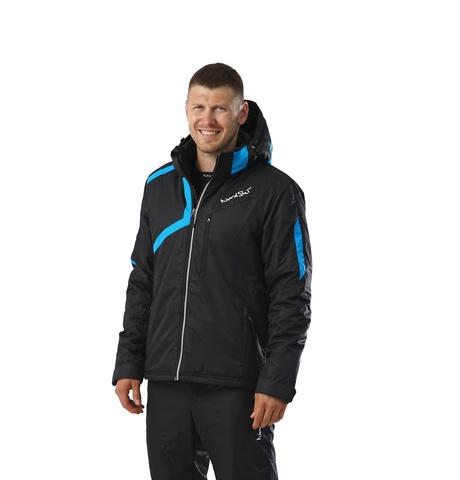 NORDSKI PREMIUM утепленная лыжная куртка black/blue