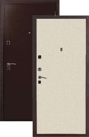Дверь входная Меги ДС-180, 2 замка, 1 мм  металл, (медь+беленый дуб)