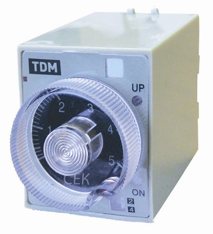 Реле времени РВ2A-0,5сек/3мин-5A-220В-8Ц TDM