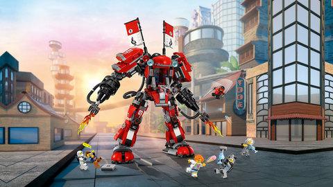 Конструктор BELA Ninja 10720 Огненный робот Кая