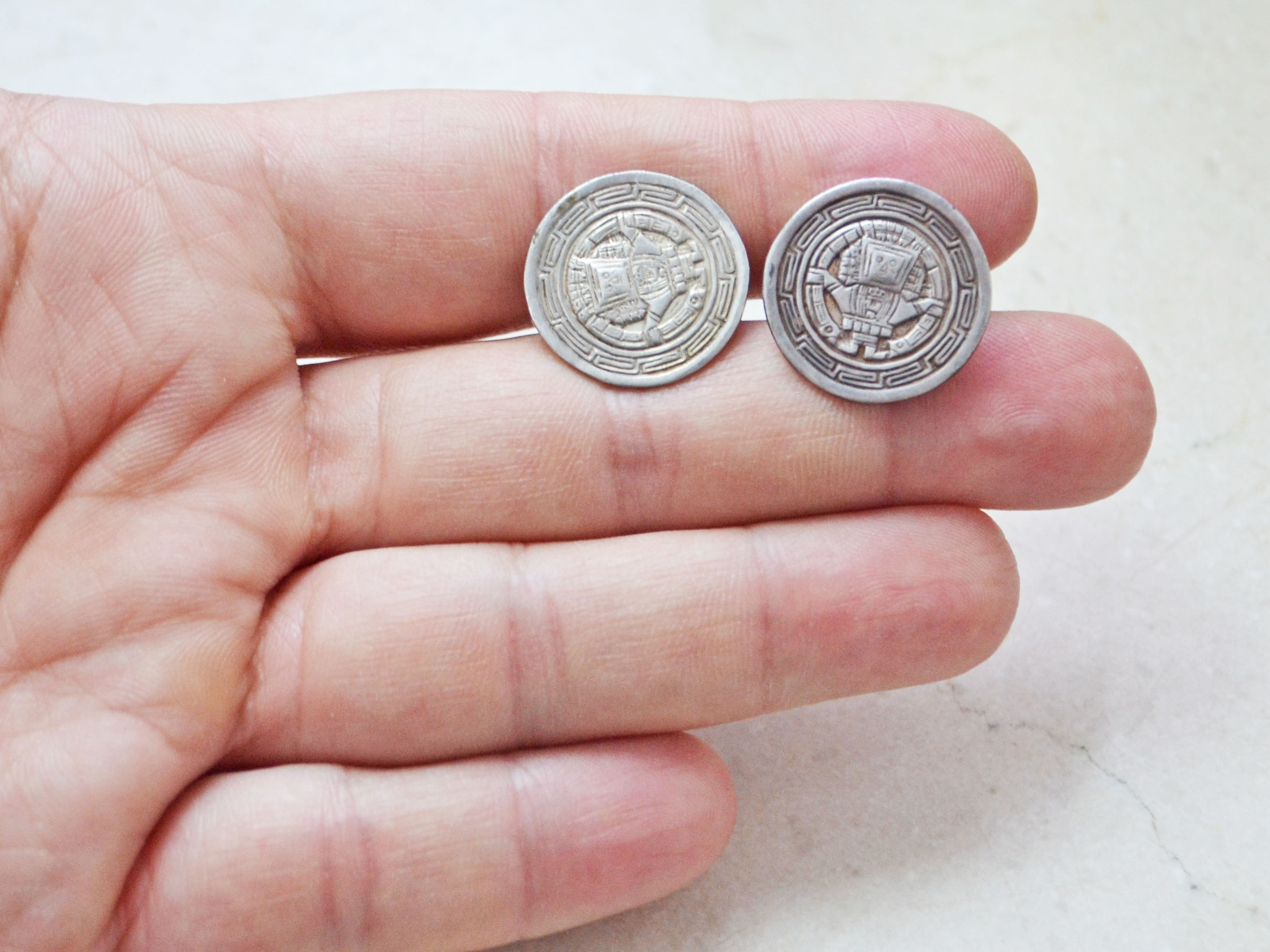 MEXICO STERLING, запонки, 1970-80е