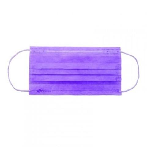 Маска 3-слойная 50 шт фиолетовая