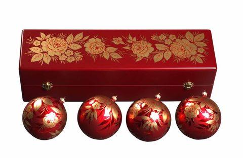 Набор из 4 елочных шаров в шкатулке SET04D-667785818