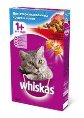 Whiskas полноценный корм для стерилизованных кошек подушечки с паштетом со вкусом говядины