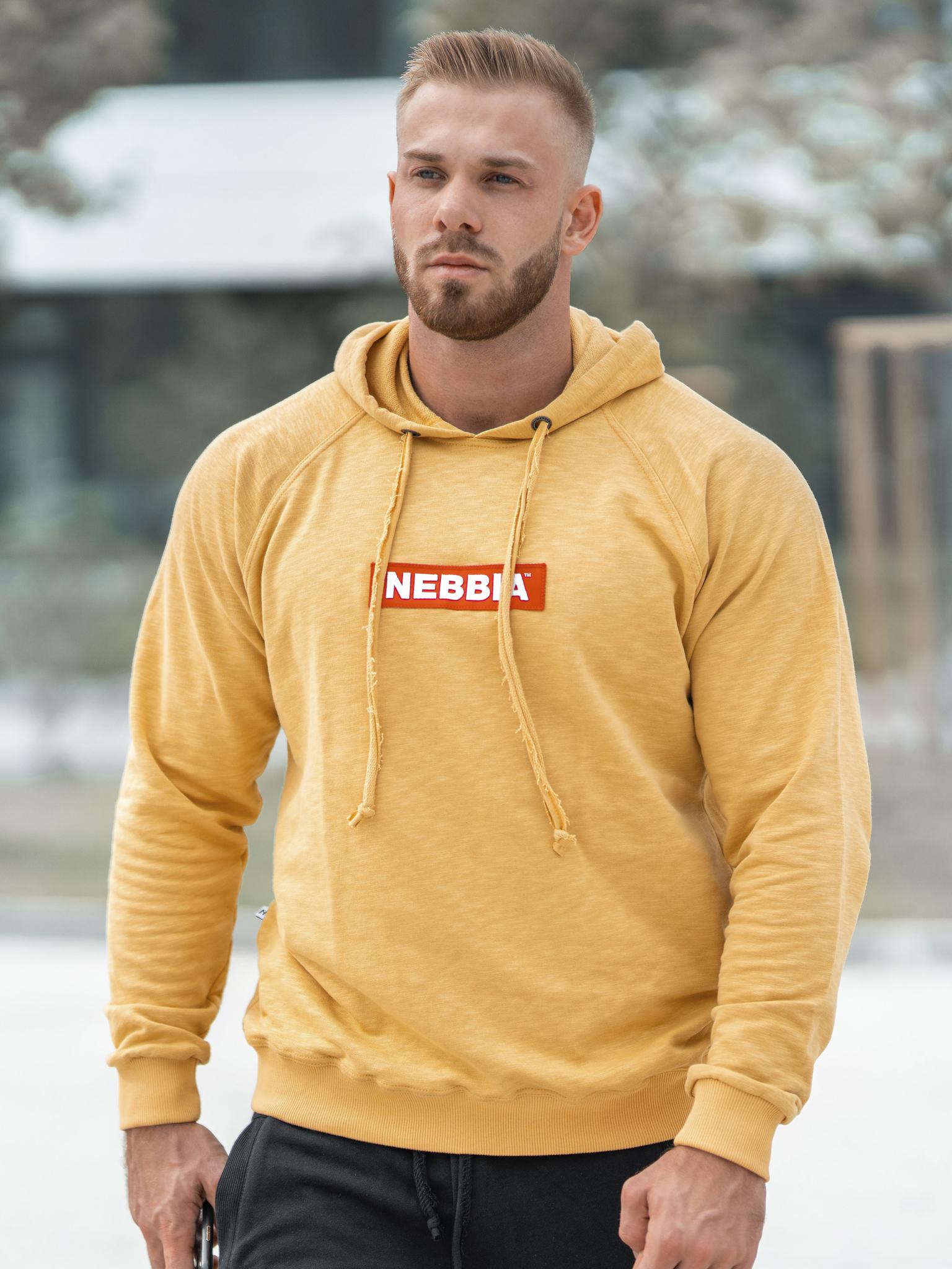 Мужская толстовка Nebbia 149 mustard