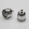Концевик для шнура 8,8 мм, 12х10 мм (цвет - платина), 2 штуки