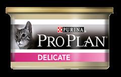 Консервы Purina Pro Plan Delicate, для кошек с чувствительным пищеварением, с индейкой