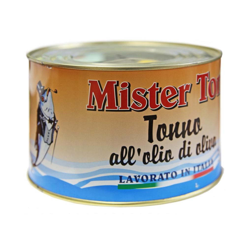 Тунец Мистер Тон кусочки в оливковом масле 1730 г