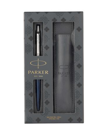 Подарочный набор Parker из шариковой ручки Parker Jotter Royal Blue CT и чехла для ручки 2020374