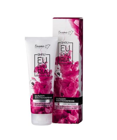 Белита-М Simply Euphoria Бальзам-восстановление с комплексом протеинов для окрашенных и поврежденных волос 125 г