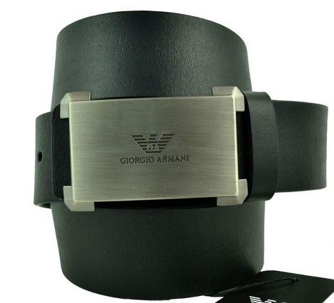 Ремень мужской для джинс чёрный Armani (копия) 40 мм 40brend-KZ-233