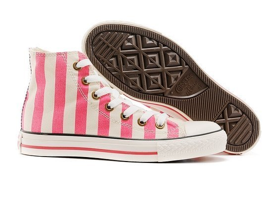 CONVERSE CHUCK TAYLOR ALL STAR HIGH STRIPED PINK (017)