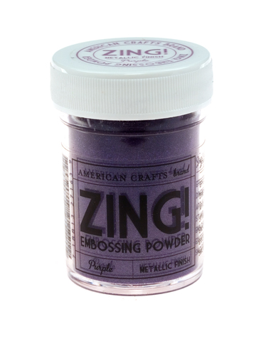 Пудра для эмбоссинга ZING! Metallic Purple