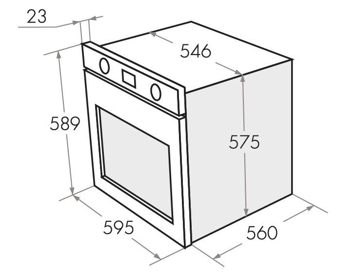 Электрический независимый духовой шкаф Maunfeld MEOH.6711 WS