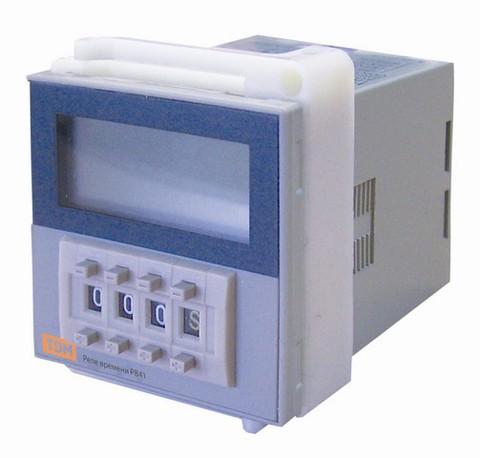 Реле времени РВ41-0,1сек/9990час-5А-220В-8Ц/Щ TDM