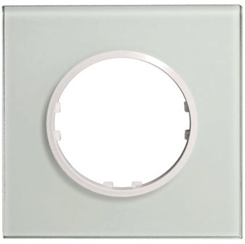 Рамка на 1 пост квадрат из натурального стекла. Цвет Светлое стекло. LK Studio Vintage (ЛК Студио Винтаж). 884111-1