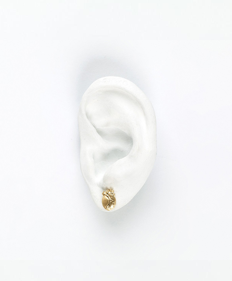 Серьги ANATOMIC HEART MEDIUM GOLD