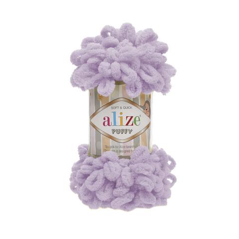 Купить Пряжа Alize Puffy Код цвета 027 Сирень | Интернет-магазин пряжи «Пряха»