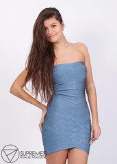 Платье резинка Herve Leger джинсовое