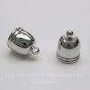 Концевик для шнура 8,5 мм, 14х10 мм (цвет - платина), 2 штуки