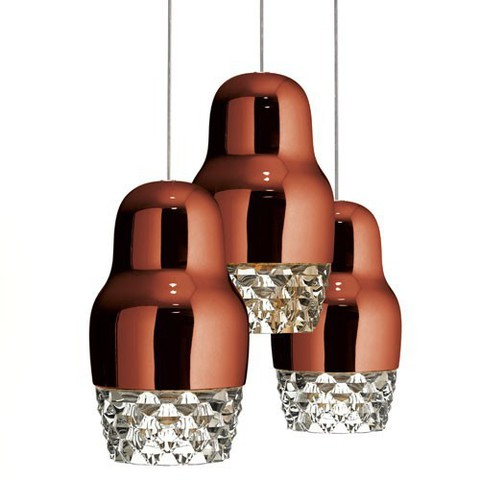 Fedora 3 Light Cluster Pendant Light from AXO Light