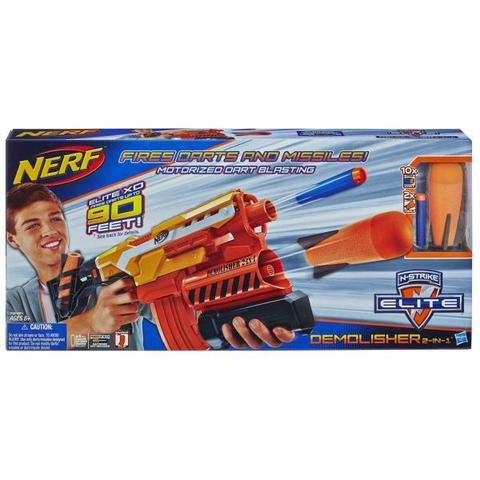 Hasbro: Бластер Nerf «Элит Разрушитель» A8494 — Elite Demolisher — Нерф Нёрф Хасбро